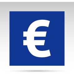 Euro blue rectangle vector image