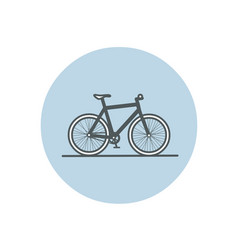 Flat of bicycle vector