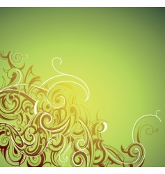 floral and decorative border vector image