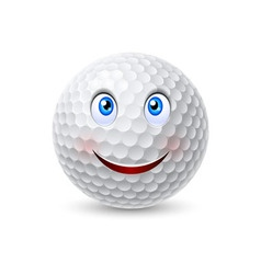 Golf ball cartoon character vector