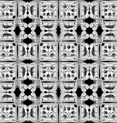 Gray and white pattern seamless on black backgroun vector image