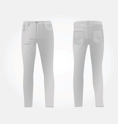 Gray jeans vector