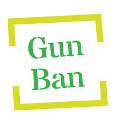 Gun ban stamp on white vector