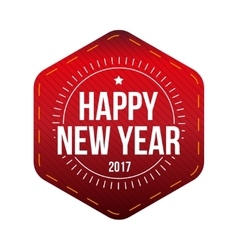 Happy 2017 New Year lettering vector image