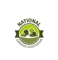 Icon for gardens association vector