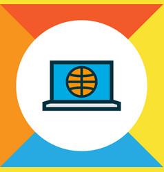 internet icon colored line symbol premium quality vector image