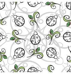 Ladybug Gray Pattern vector image
