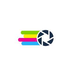 lens paint logo icon design vector image