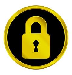 Lock button vector image
