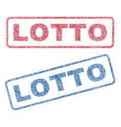 Lotto textile stamps vector