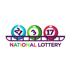 national lottery promotional logotype with vector image