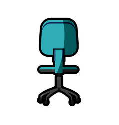 Office chair work image shadow vector