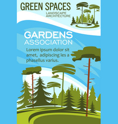 Parks and garden landscape design association vector