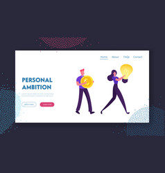 people buying business ideas website landing page vector image