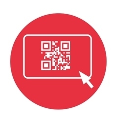Qr code and arrow pointer icon image vector
