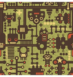 Robotic Pattern vector