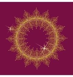 Round lace mandala vector
