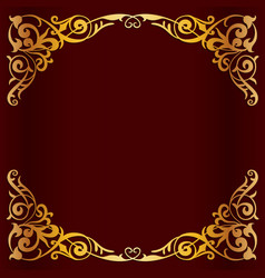 royal golden frame for design vector image