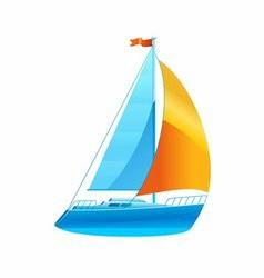 Sailboat Sailing Icon vector