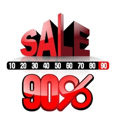 Sale 90 vector image