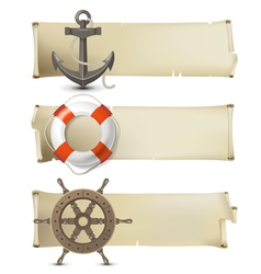 sea banners vector image