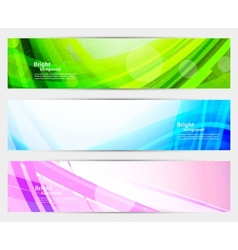 set bright banners vector image