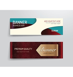 set of banner template luxury design graphic vector image
