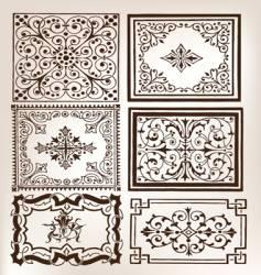 Set vintage design elements vector