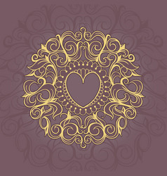 Sketch of tattoo henna hearts vector