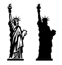 Statue liberty new york landmark american vector