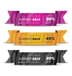 Summer sale horizontal banners vector image
