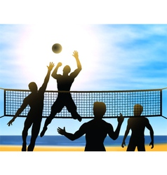 Summer volleyball vector