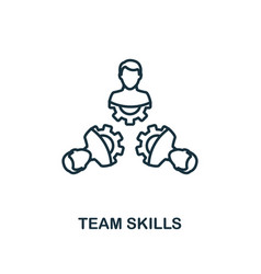 Team skills icon outline style thin line creative vector