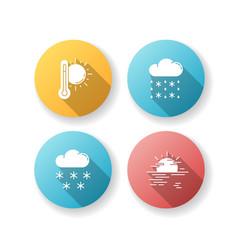 temperature and precipitation forecast flat vector image