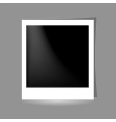 Template Photo Frame Design on Grey Background vector image