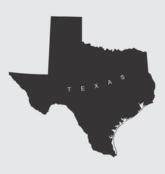 texas silhouette map vector image