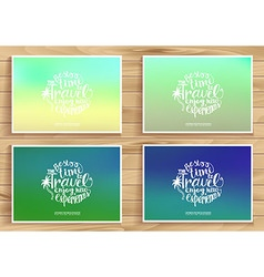 Travel time posters set vector image vector image