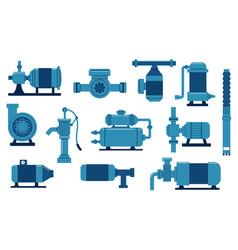 Water pump oil industry compressor with motor vector