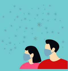 Wuhan coronavirus 2019-ncov concept man and woman vector