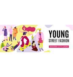 Young street fashion vector