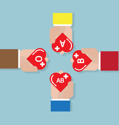 blood donate donation concept with heart shape in vector image