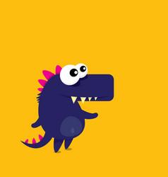cartoon funny dragon cartoon dinosaur vector image vector image