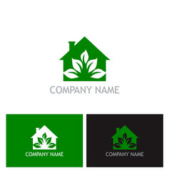 green house eco logo vector image