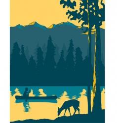 kayak adventure vector image vector image