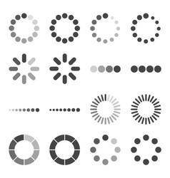 loading bar icon set symbol vector image vector image