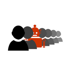 special standing out from the crowd vector image