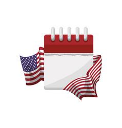united states patriotic emblem vector image