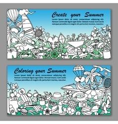 Create your Summer Fliers vector image vector image