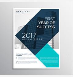 elegant business flyer template design with vector image