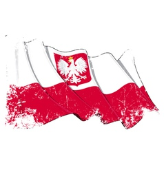 Poland State Flag Grunge vector image vector image